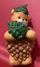 Lucy & Me Christmas Pine Cone Bear Decorated Tree Enesco Lucy Rigg 1991