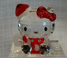 Swarovski Figurine, Hello Kitty Santa, Mib W/Generic Pamphlet, #1142935
