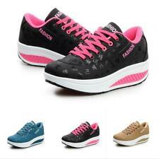 Chic Women Wedge Platform Sneakers Athletic Tennis Walking Training Sport Shoes