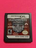 🔥 Transformers: Autobots (Nintendo DS, 2007) Nintendo 2DS 💯 WORKING - FUN GAME