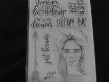 """KAISERCRAFT """"BOHO DREAMS"""" CS266 STAMPS X8 *FREE POST*,FABULOUS L@@K"""