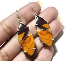 Natural Yellow Mookaite Gemstone Handmade Ethnic Fashion Jewelry Earring