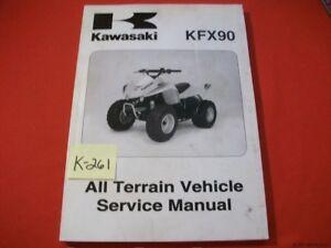 KAWASAKI ATV KFX 90 & KSF90 FACTORY SERVICE MANUAL W PREP #99924-1371-01 2007