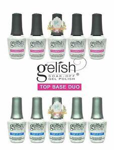 5 x GELISH Harmony Soak Off Gel Polish Top and Base Duo Best Deal
