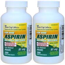 Enteric Coated Aspirin 81mg Generic for Bayer Low Dose Aspirin 2000 Tablets