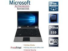 "Refurbished HP EliteBook 2540P 12.1"" Intel Core i5-520M 2.40GHz 8GB DDR3 240GB S"
