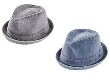 COTTON TRILBY HAT WASHED COTTON DENIM PORK PIE RUDE BOY SOUL MADNESS SUMMER SUN
