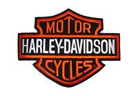 Parche Harley Davidson Logo B & S Grande 26x20 Chaqueta Chaleco Espalda Hombro