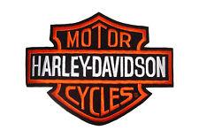 Patch Toppa Harley Davidson Logo B&S Grande 26x20 Giubbotto Gilèt Schiena Spalla