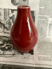 Chinese Antique China Red-Glazed Boeuf Oxblood Sang De Porcelain Small Vase
