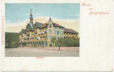 D FRIEDRICHSRODA, ca. 1900, Farblitho Gruß-aus-AK mit Kurhaus