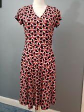 Kaileigh Stitch Fix Sleeveless Dress, Geometric Red/Black/White, Size Large