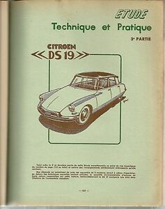 REVUE TECHNIQUE AUTOMOBILE 135 RTA 1957 CITROEN DS 19 (3/3) EVOLUTI PANHARD DYNA