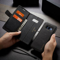 For Samsung Note 9 S9 S10 Plus Removable Leather Magnetic Flip Cover Wallet Case