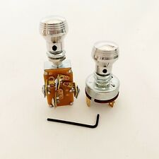 3 Position Headlight Switch & 2 Speed Wiper Switch w/ Art Deco Aluminum Knobs