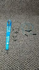 Lot Of 7 Costa Blue Lanyard & Blue W/ Black Halyard Wire Retainers