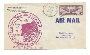 1930 Airport Dedication Cover # C385 from Twin Mountain New Hampshire