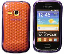 New Design Silicone Gel Diamond Case Cover Skin for Samsung Galaxy mini 2 S6500