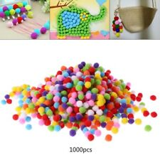 1000Pcs Soft Round Fluffy Craft PomPoms Ball Mixed Color Pom Poms 12mm DIY Craft