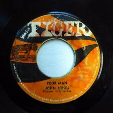 JOHN JONES / TOMORROW'S CHILDREN 45 Poor Man / Merci Cherie TIGER reggae h1003