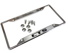 Cadillac CTS METAL LICENSE PLATE FRAME TAG HOLDER AND SCREWS CAPS