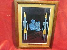 FRAMED CADMUS THE FIRST TEACHER PHOENICIAN ALPHABET CLAY FIGURED  ART PLAQUE