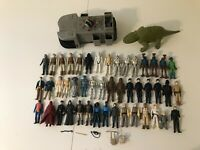 VINTAGE 1977-1984 STAR WARS FIGURE LOT OF 46 FIGURES & SOME WEAPONS - BULK PRICE