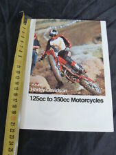 Brochure Moto AMF Harley Davidson sst 350 250 rx mx