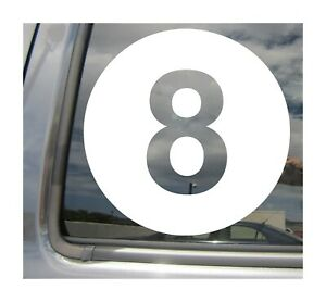 8 Ball - Eight Billiards Pool Car Auto Window Vinyl Decal Sticker 04046