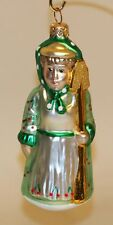 1996 Patricia Breen Glass Christmas Ornament Mrs Shaw the Gardener Cherries 9636