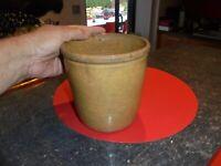 Ancien Joli Pot à Saindoux en Grès Vernissé Origine cuisine de campagne garantie