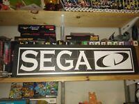 """Sega CD Display, Aluminum Sign, 6"""" x 24""""."""