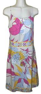 EMILIO PUCCI Firenze  Pastel Print Silk Jersey Dress Sz 40 / Aus 8 / UK 8 / US 4