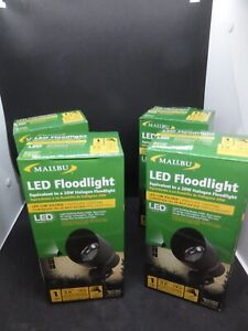 4 Landscape Low Voltage Malibu Spot/Flood Lights NEW 20 Watts