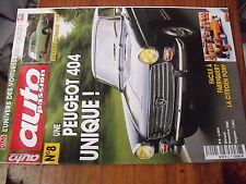 µ? revue Auto Passion n°8 Peugeot 404 Renault Domaine 1957 Citroen Pony ELF MORS