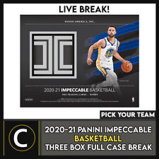 2020-21 caso Caja PANINI IMPECCABLE baloncesto 3 romper #B657 - Elige Tu Equipo