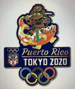 Tokyo 32nd Summer Olympic Games Puerto Rico NOC TEAM Samarai Frog scarce pin