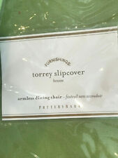 Pottery Barn Torrey Armless Chair Outdoor Slipcover Cushion Cover Jade Green