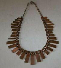 Vtg Renoir Copper Choker Necklace - Mid Century Modernist
