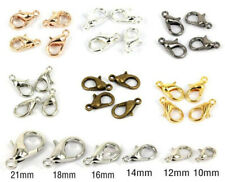 100Pcs Lobster Clasps Hooks For Bracelet Necklace Connector End Caps Clasps
