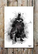 Batman Inspired Art Print The Dark Knight DC Comics Movies Illustration Wall Art