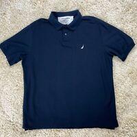 Nautica Performance Deck Men's XL Blue Short Sleeve Golf Polo Shirt