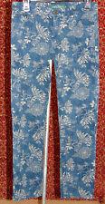 RALPH LAUREN dark blue floral denim skinny jeans 4 (T39-02B7G)