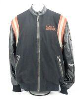 Harley Davidson Jacket Leather and Wool Vintage Varsity Letterman Mens Medium M