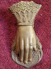 LADIES HAND with RING ANTIQUE early 1900 SPRING LOADED  PAPER CLIP EUROPEAN