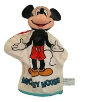 Vintage Mickey Mouse Cloth Hand Puppet Made in Korea Walt Disney Plastic Head