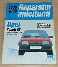 OPEL Kadett GT 1,8l 2,0l ab 1988 Motor Reparaturanleitung B1035 Handbuch