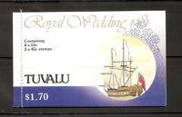 Tuvalu . 1981 Royal Wedding .Complete Booklet. MNH