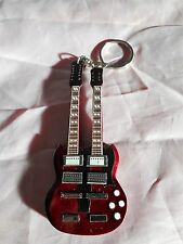 Led Zeppelin 10cm Wooden Guitar Key Chain