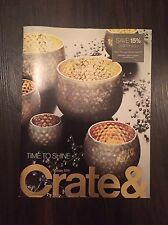 CRATE & BARREL HOLIDAY 2016 TIME TO SHINE CATALOG LOOK BOOK